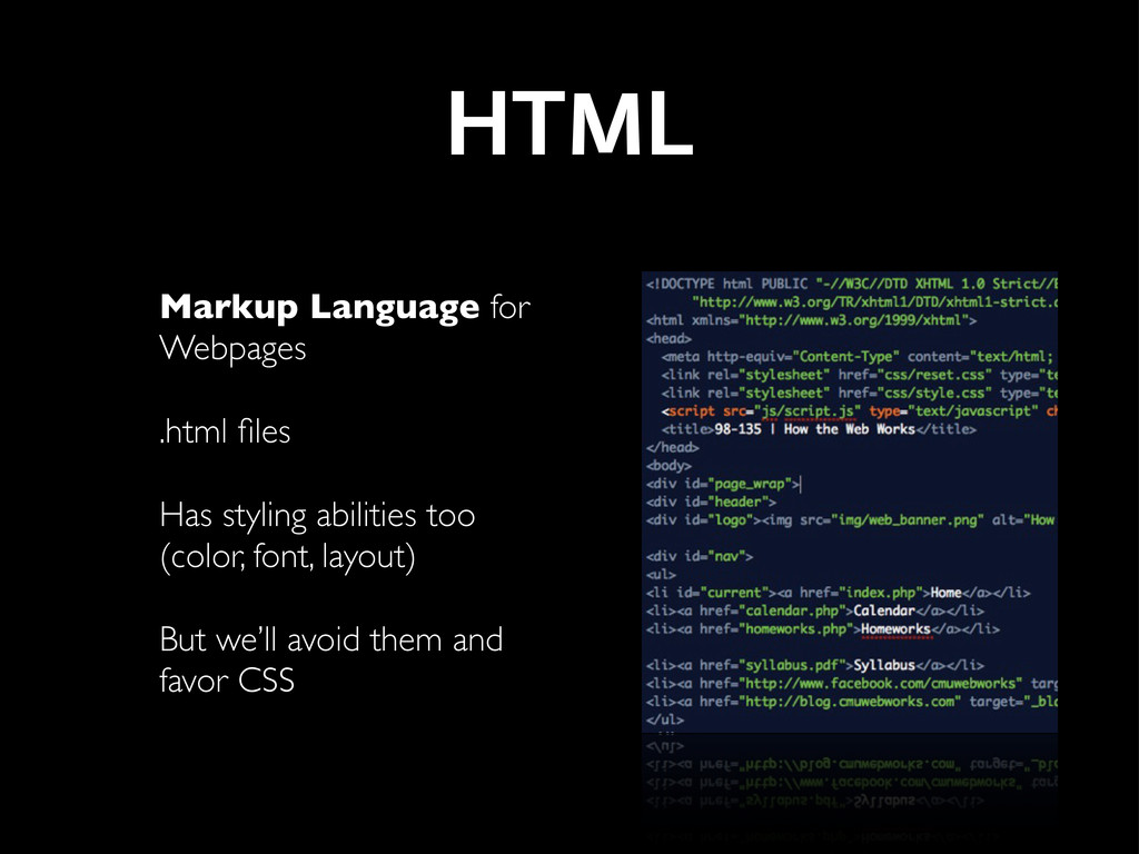 HTML Markup Language for Webpages .html files Ha...