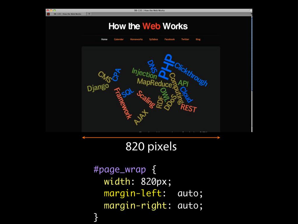 #page_wrap { width: 820px; margin-left: auto; m...