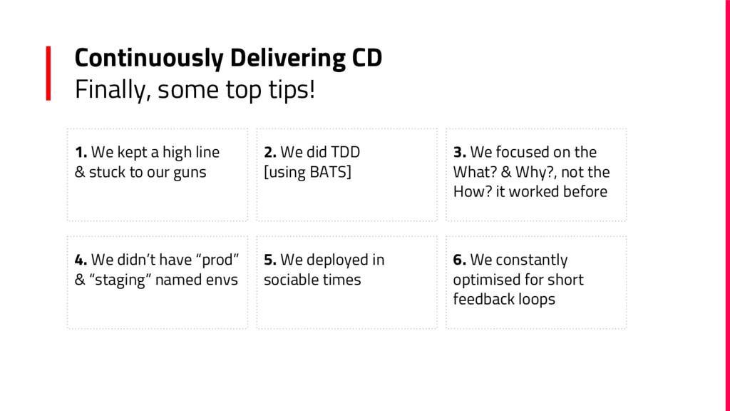 Continuously Delivering CD Finally, some top ti...