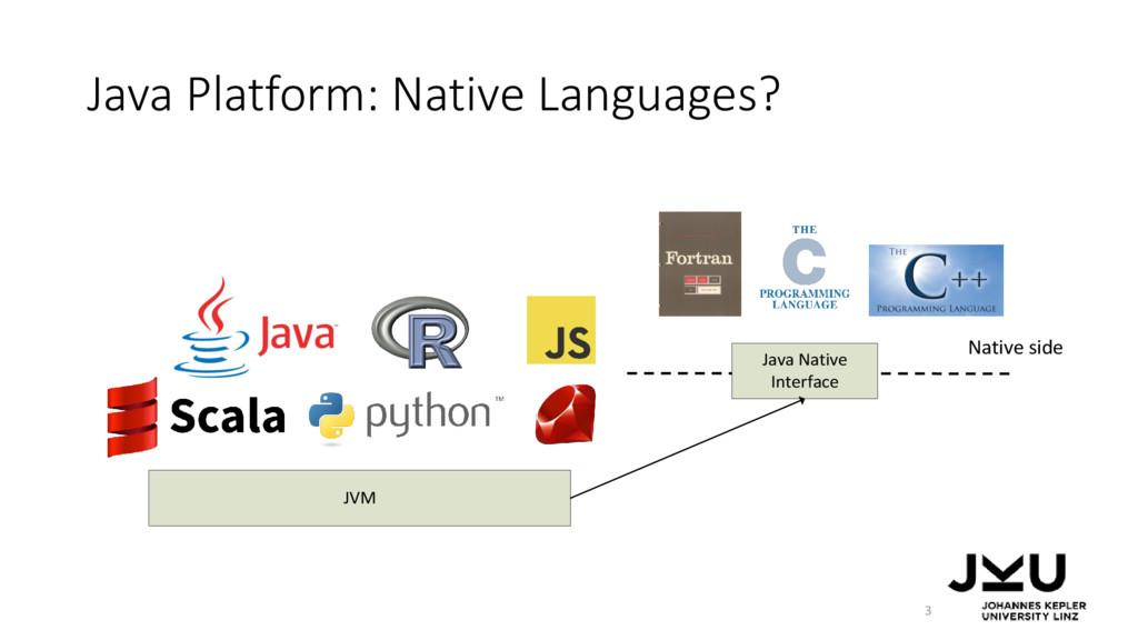 Java Platform: Native Languages? JVM Java Nativ...