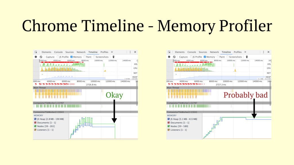 Chrome Timeline - Memory Profiler Okay Probably...
