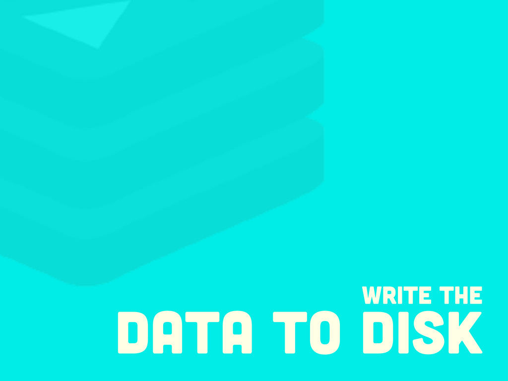Write the data to disk