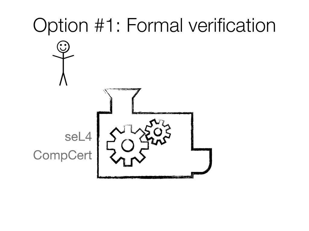 Option #1: Formal verification  seL4 CompCert