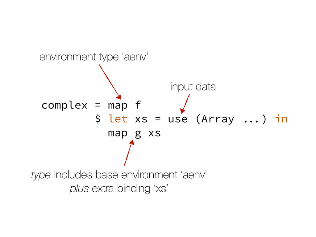 complex = map f $ let xs = use (Array ...) in m...