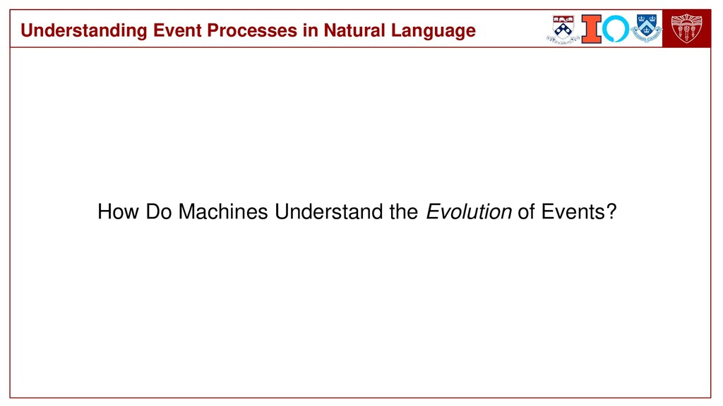 How Do Machines Understand the Evolution of Eve...