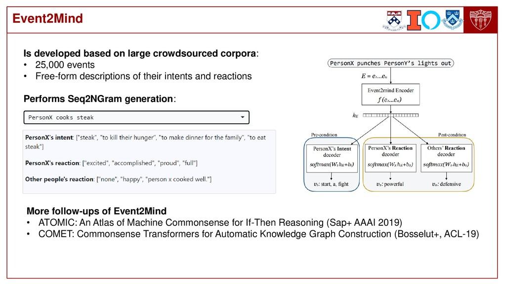 Event2Mind Is developed based on large crowdsou...