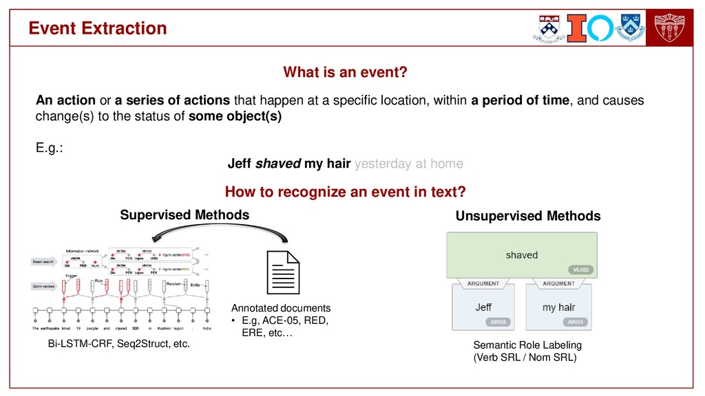 Event Extraction An action or a series of actio...