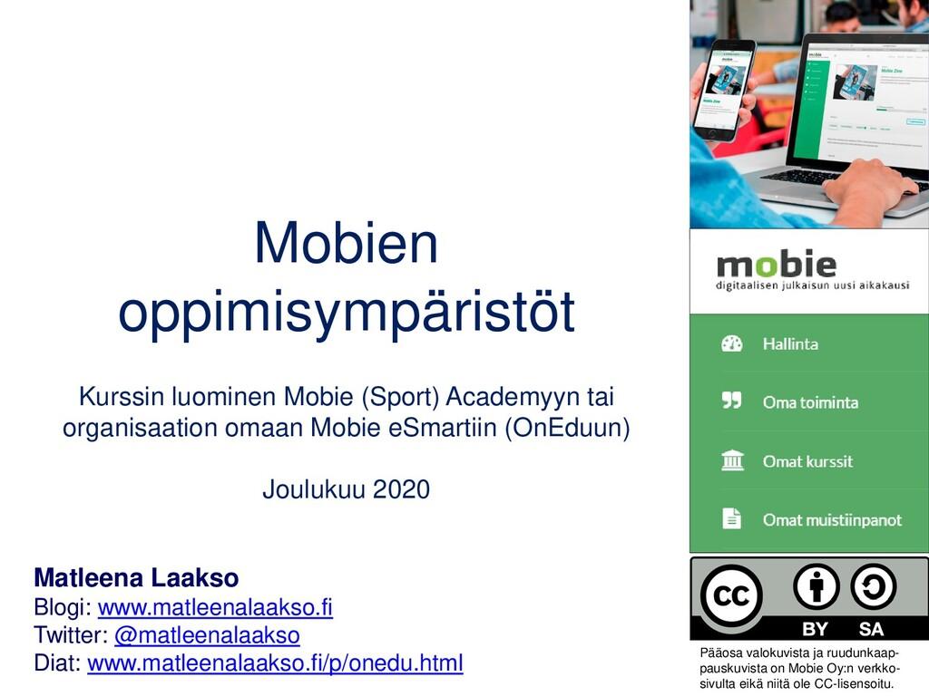 Mobien oppimisympäristöt Kurssin luominen Mobie...