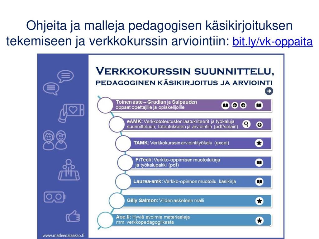 Ohjeita ja malleja pedagogisen käsikirjoituksen...