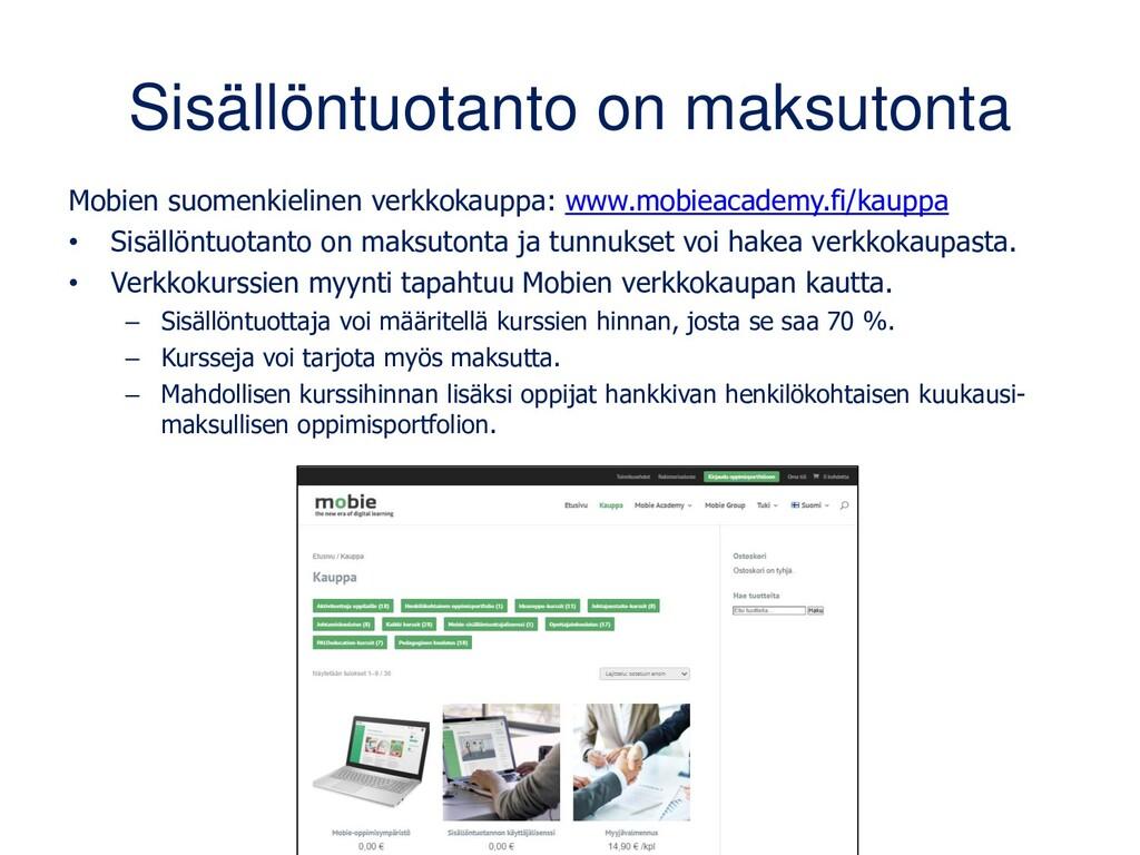 Sisällöntuotanto on maksutonta Mobien suomenkie...