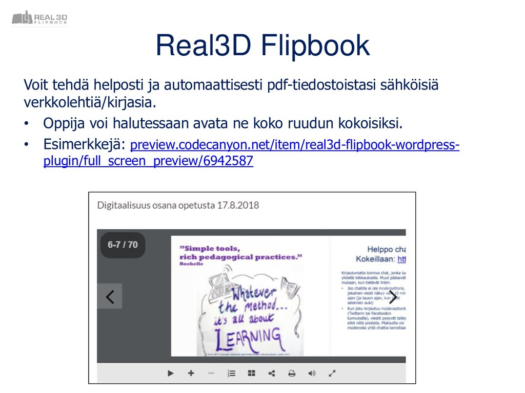 Real3D Flipbook Voit tehdä helposti ja automaat...