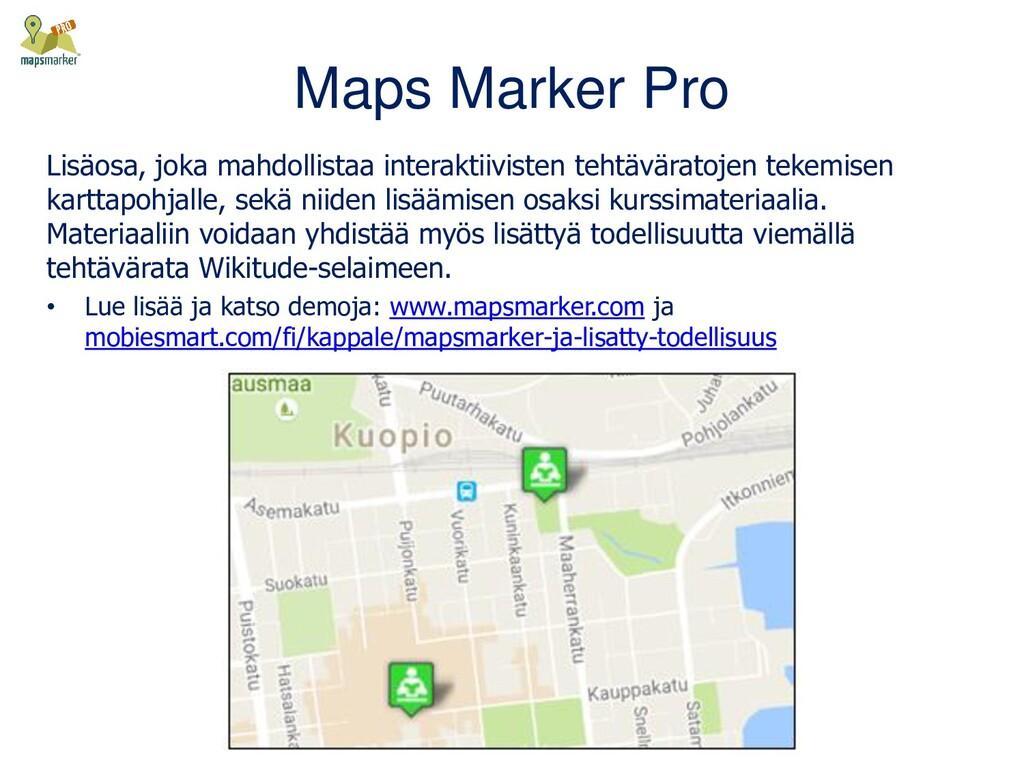Maps Marker Pro Lisäosa, joka mahdollistaa inte...