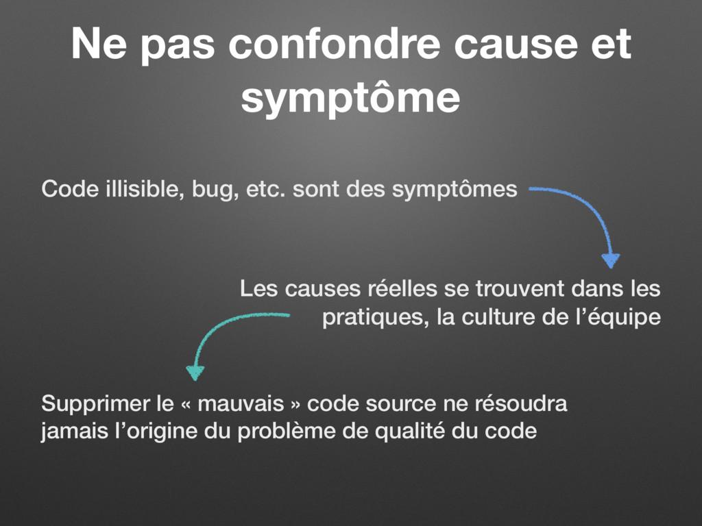Ne pas confondre cause et symptôme Code illisib...