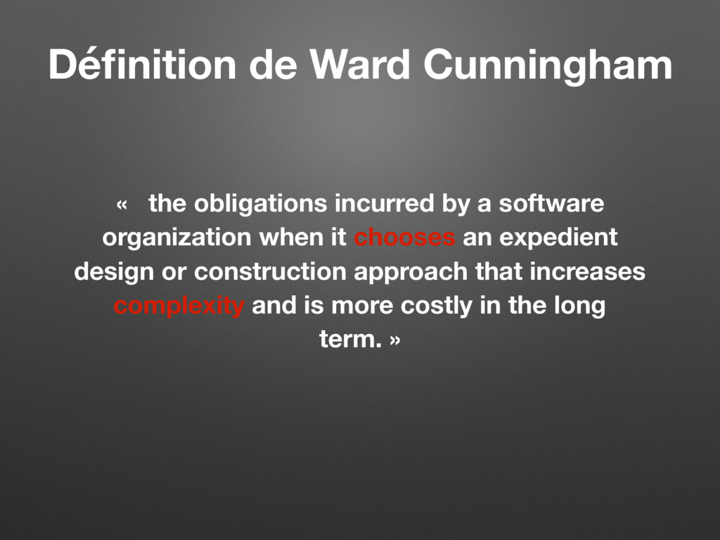 « the obligations incurred by a software organi...