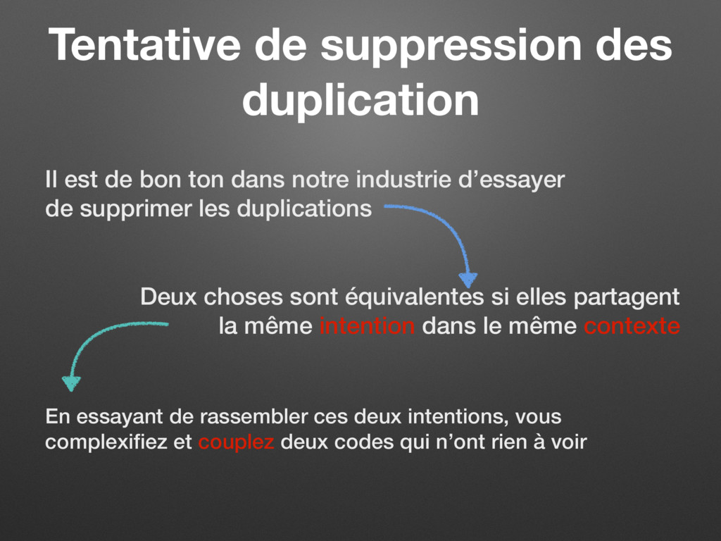 Tentative de suppression des duplication Il est...
