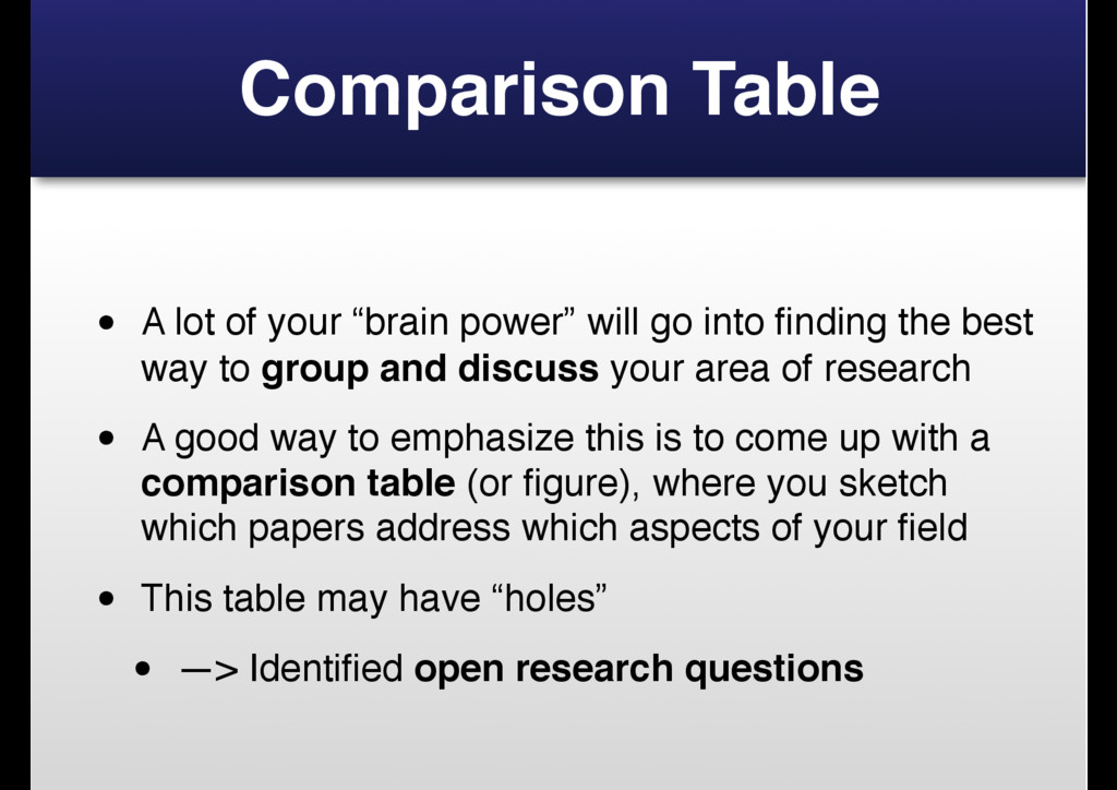 "Comparison Table • A lot of your ""brain power"" ..."