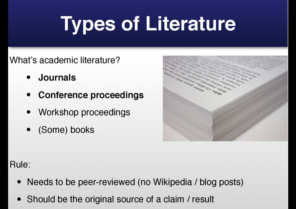 Types of Literature What's academic literature?...