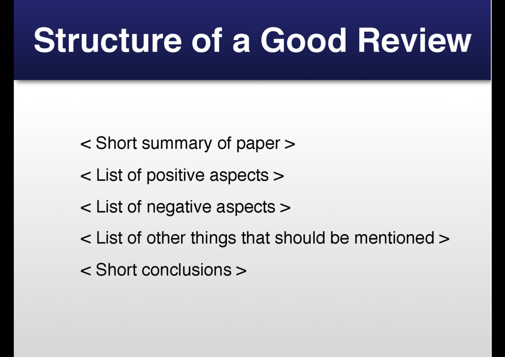 Structure of a Good Review < Short summary of p...
