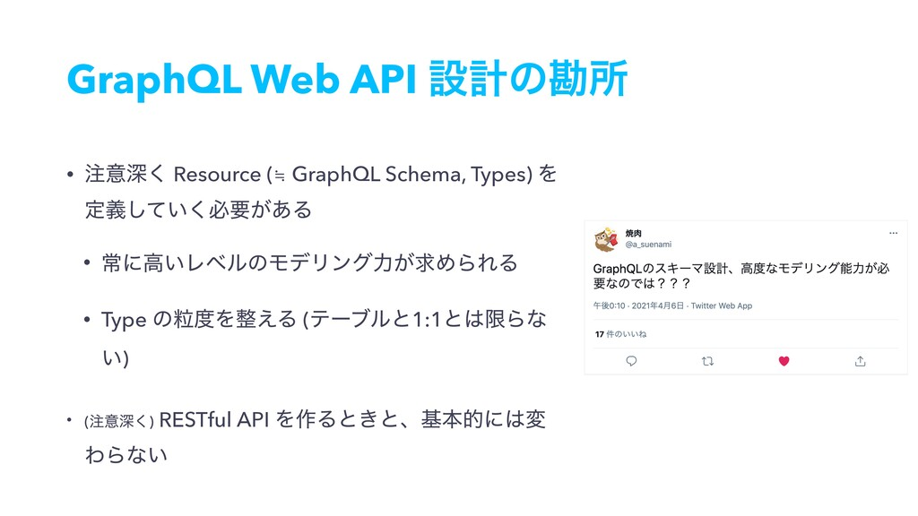 GraphQL Web API ઃܭͷצॴ • ҙਂ͘ Resource (≒ GraphQ...