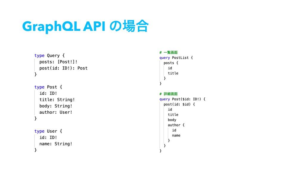 GraphQL API ͷ߹