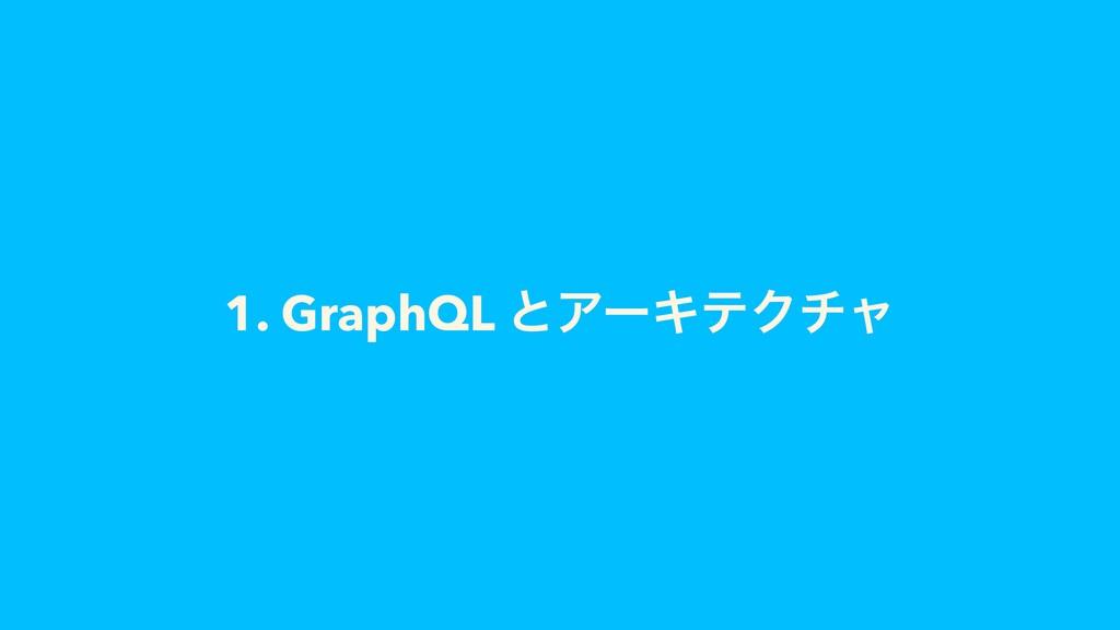 1. GraphQL ͱΞʔΩςΫνϟ