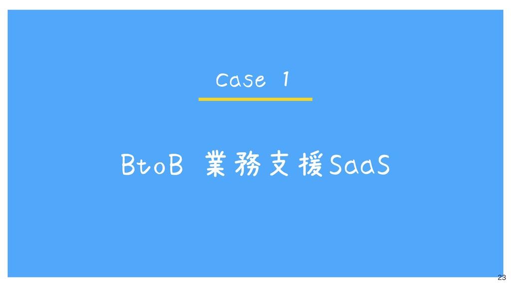 BtoB 業務支援SaaS  Case 1