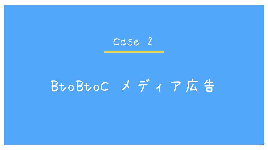 BtoBtoC メディア広告  Case 2