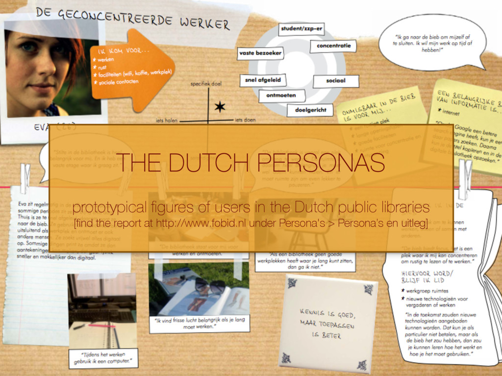 THE DUTCH PERSONAS prototypical figures of users...