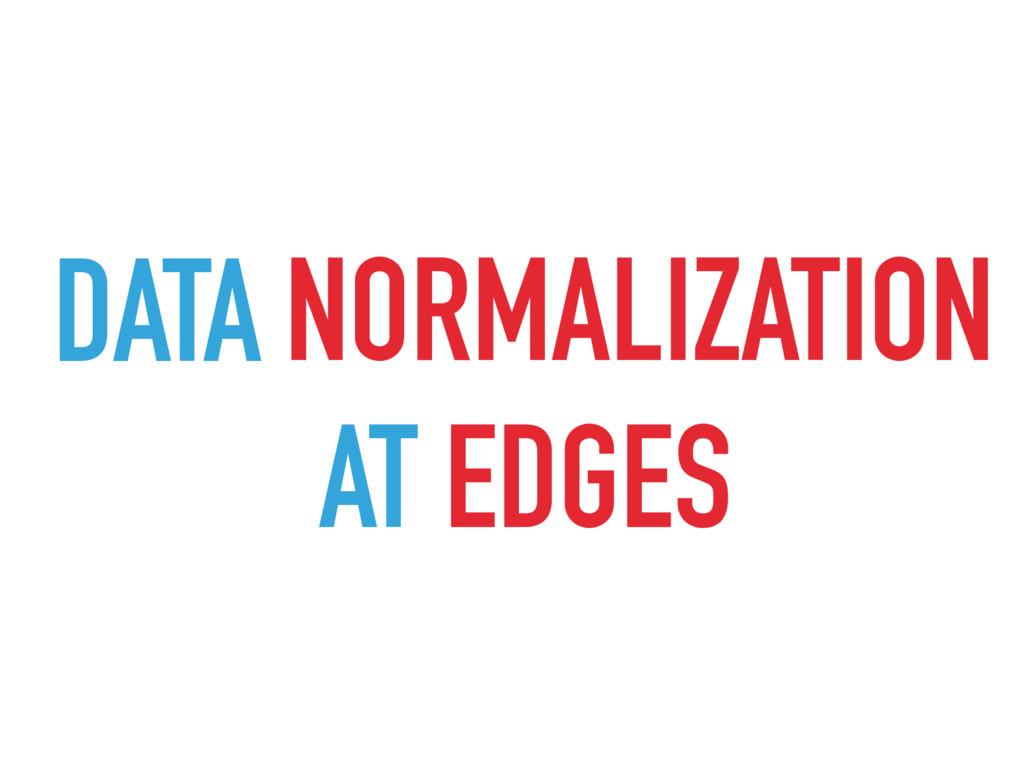 DATA VALIDATION NORMALIZATION AT EDGES