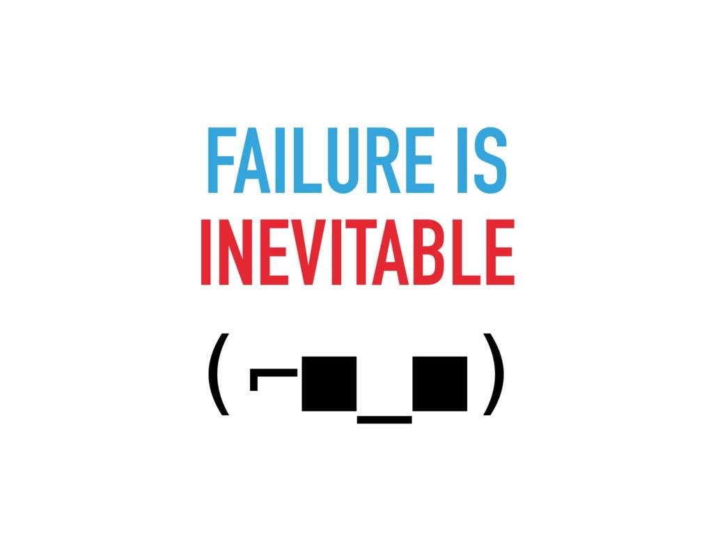 FAILURE IS INEVITABLE (⌐■_■)