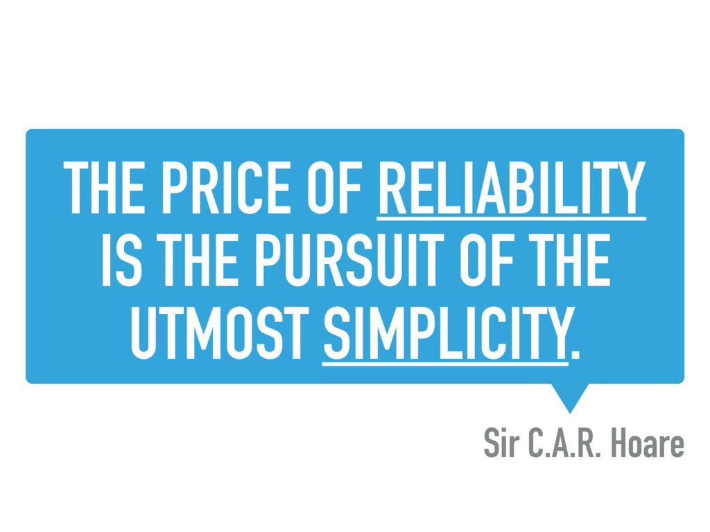 THE PRICE OF RELIABILITY IS THE PURSUIT OF THE ...