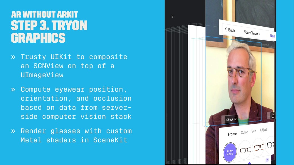 AR without ARKit Step 3. TryOn Graphics » Trust...