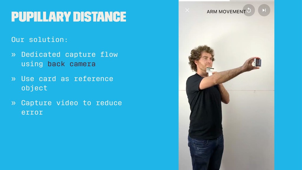 Pupillary Distance Our solution: » Dedicated ca...
