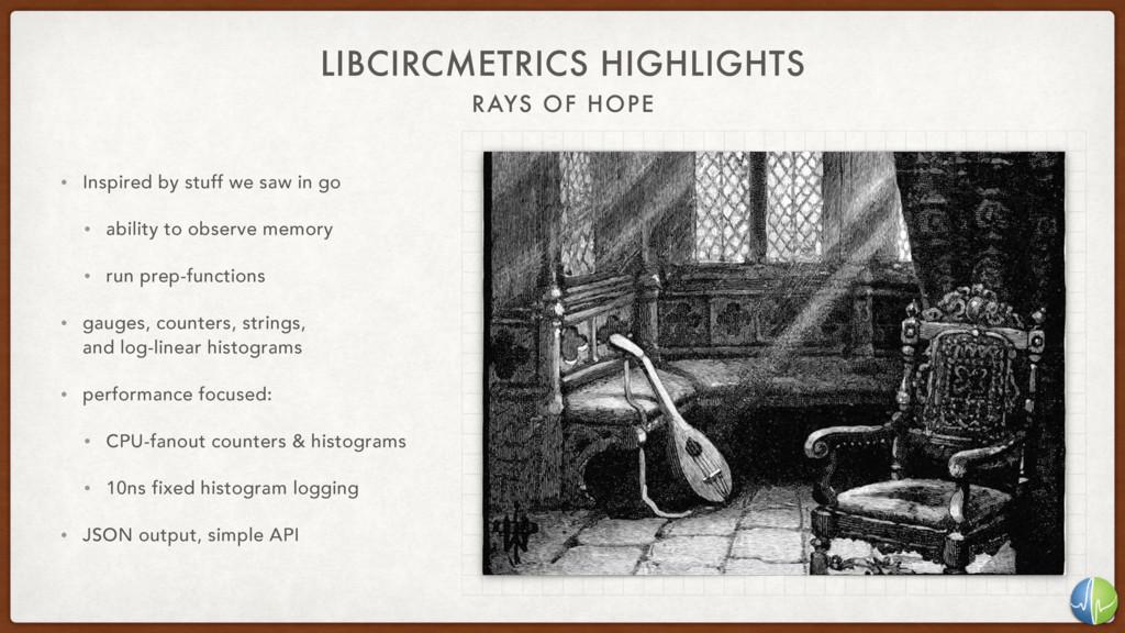 RAYS OF HOPE LIBCIRCMETRICS HIGHLIGHTS • Inspir...