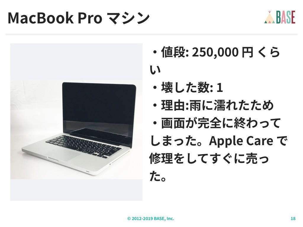 © - BASE, Inc. MacBook Pro : 250,000 : 1 : Appl...