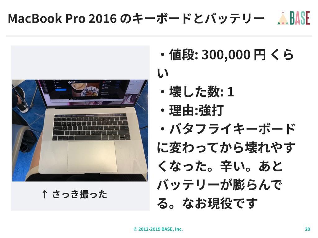 © - BASE, Inc. MacBook Pro : 300,000 : 1 :