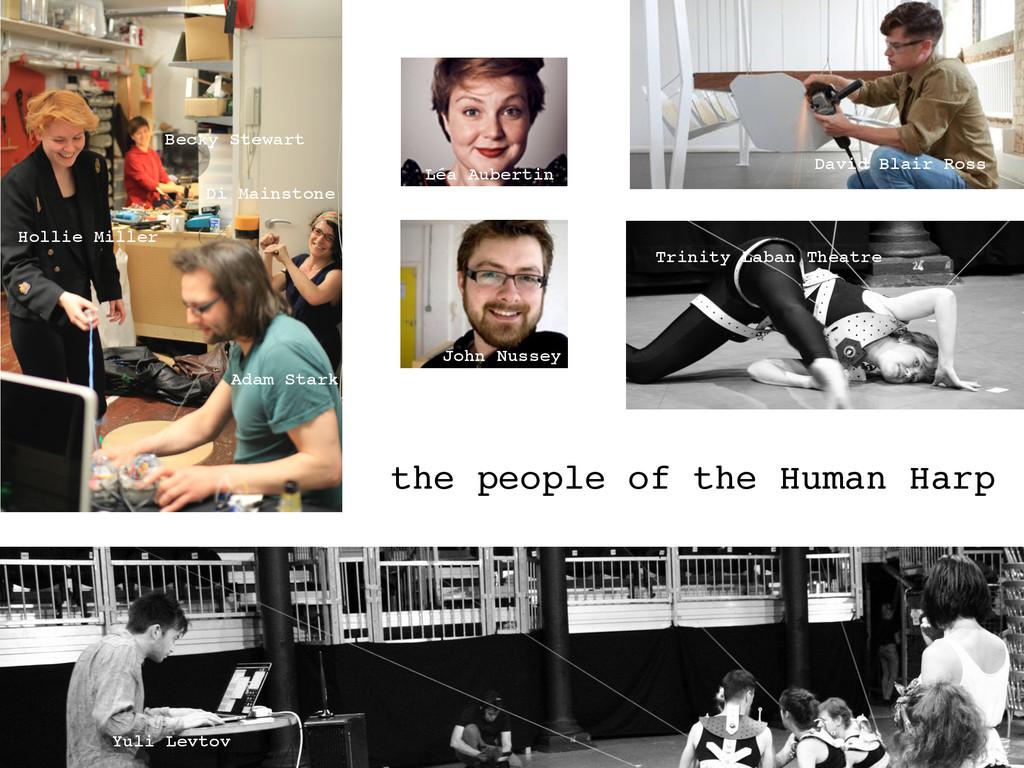 the people of the Human Harp Adam Stark John Nu...