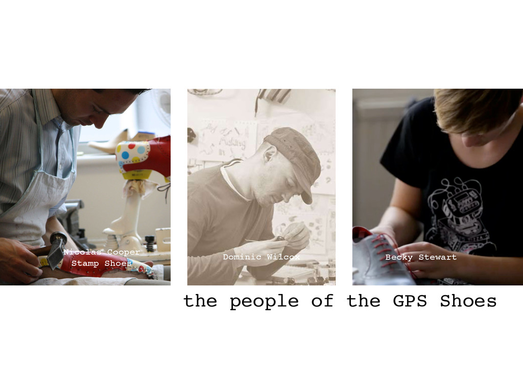 the people of the GPS Shoes Nicolas Cooper ! St...