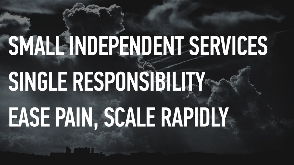 SMALL INDEPENDENT SERVICES SINGLE RESPONSIBILIT...