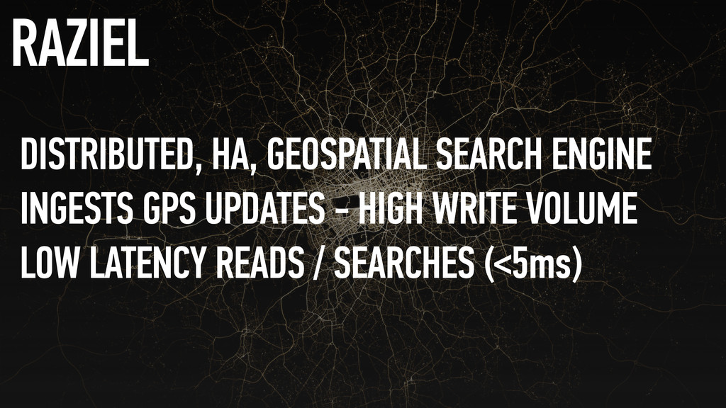DISTRIBUTED, HA, GEOSPATIAL SEARCH ENGINE INGES...
