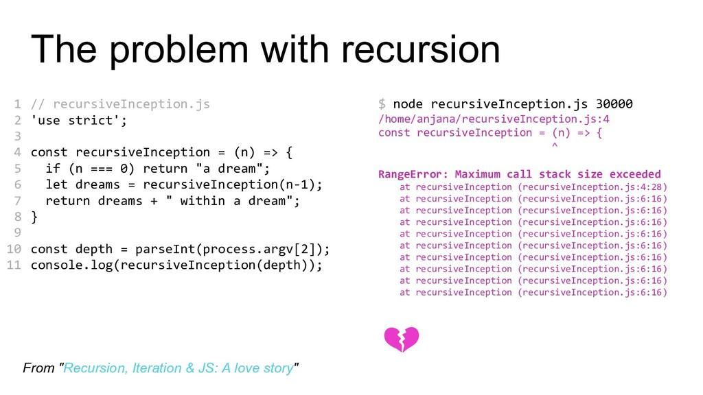 The problem with recursion // recursiveInceptio...