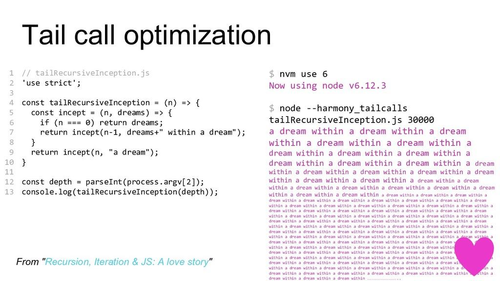 // tailRecursiveInception.js 'use strict'; cons...