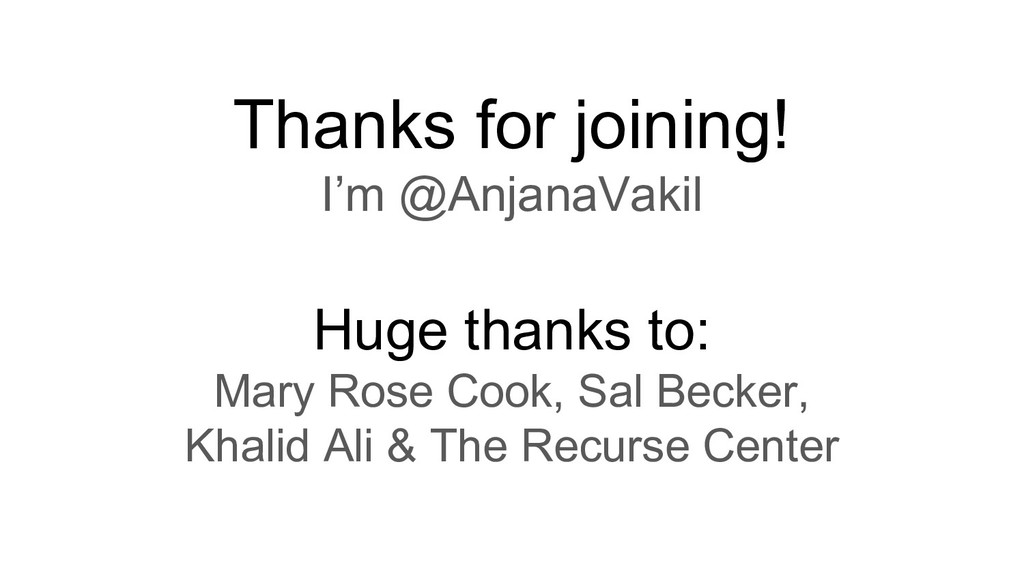 Thanks for joining! I'm @AnjanaVakil Huge thank...