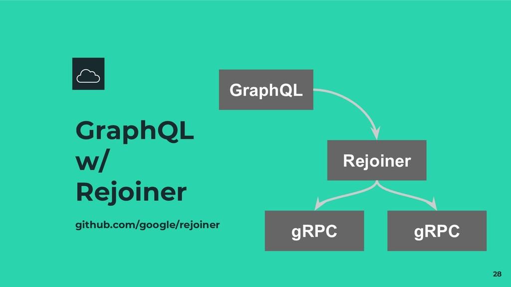 GraphQL w/ Rejoiner github.com/google/rejoiner ...