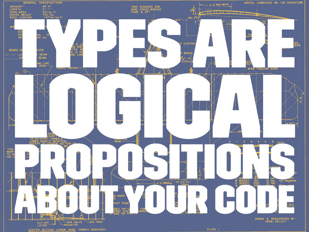 Types are logical propositions about your code