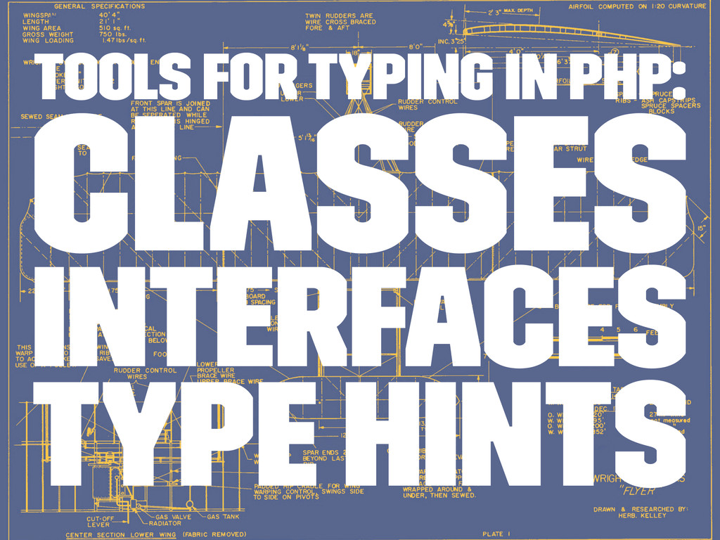 Tools for typing in PHP: Classes interfaces typ...