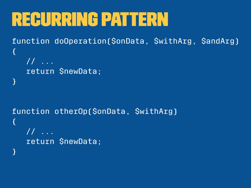 Recurring pattern function doOperation($onData,...