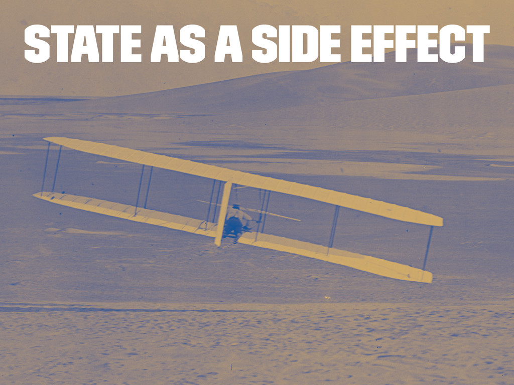 State as a side effect