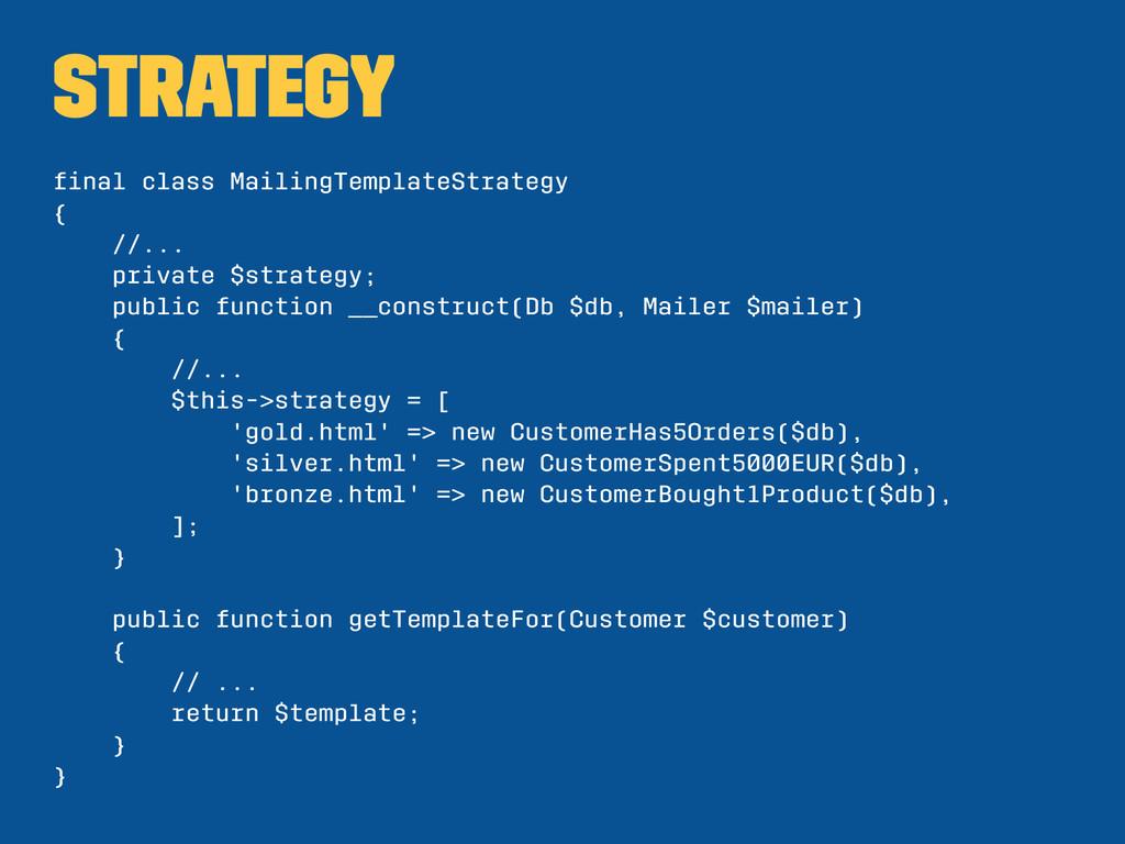 Strategy final class MailingTemplateStrategy { /...