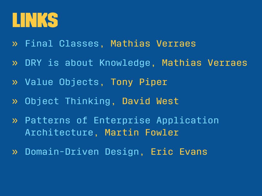 Links » Final Classes, Mathias Verraes » DRY is...